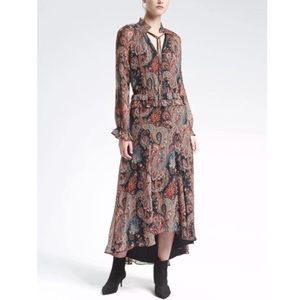 Banana Republic + Olivia Palermo Paisley Dress S